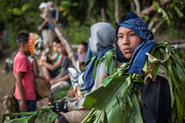 Fotografía de Lucas Iturriza sobre población indígena